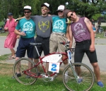 The 9th annual Little 100 vintage bike race in Vancouver, Canada