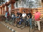 An early ride of the Goa Cycle Club