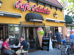 Cafe Calabria on Commercial Drive