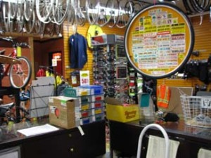 Bike Doctor bike store counter
