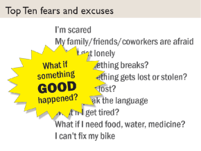 Ulrike's top ten cyclists' fears and excuses to not travel by bicycle.