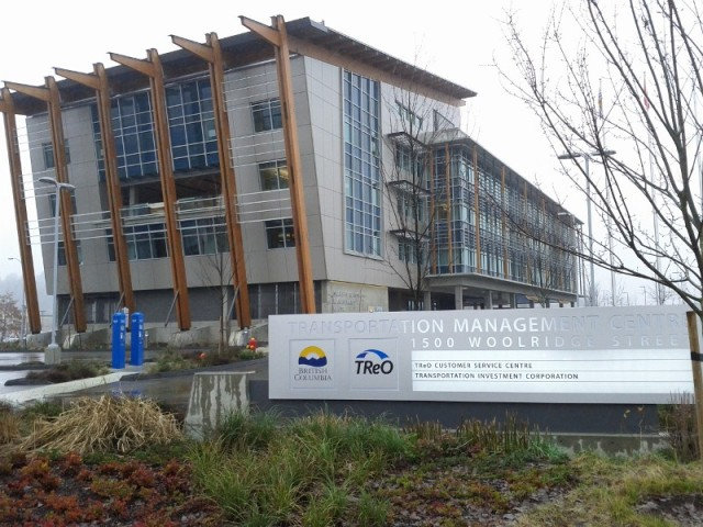Transportation Management Centre building in Port Coquitlam