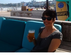 Ulrike at the Bucket List Cafe in Bondi Beach near Sydney Australia.