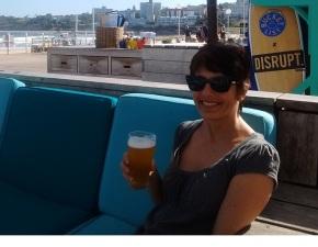 Ulrike at the Bucket List Cafe in Bondi Beach near Sydney Australia.