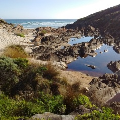The mouth of the Rocky River in Flinders Chase National Park, south Australia.